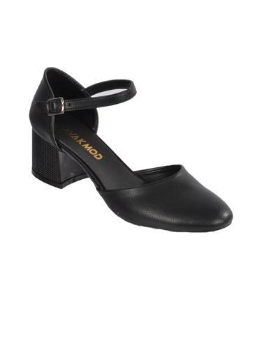 Maje 6031 Platin Kadın Topuklu Ayakkabı Siyah
